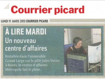 le courrier picard rel ve le professionnalisme du centre d 39 affaires m tropole amiens. Black Bedroom Furniture Sets. Home Design Ideas