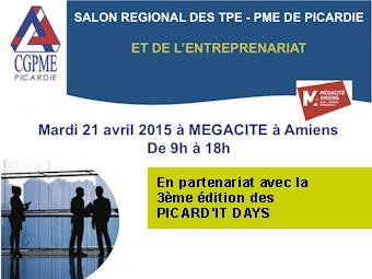 Le 21 avril 2015 la cgpme picardie organise megacit le for Salon des pme